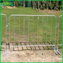 Гальванизированный концертный портативный стальной барьер для контроля толпы с плоскими ножками