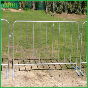 Galvanizado concierto portátiles barrera de control de multitud de acero con pies planos