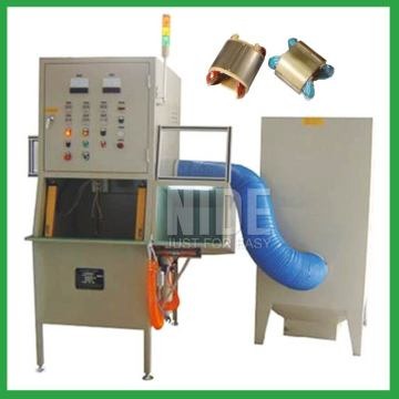 Stator coil insulation treatment powder coating machine