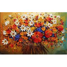 Canvs Kunst Handgemachtes Blumen-Ölgemälde (KVF-022)