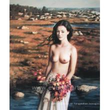 Handgemalte Nackt-Ölgemälde auf Leinwand