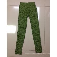 Ladies Girls Leopard Jacquard Seamless Leggings Wholesale