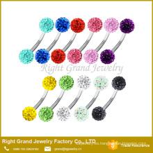 ¡ CALIENTE! Color de rosa, cristal, azul, Aqua, púrpura, rojo ceja piercing stud