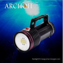 Archon Wg76W Goodman Handle Diving Video Light CREE LED Max 6500 Lumens
