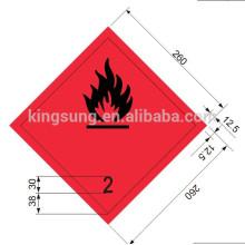 Harzard class sticker inflammable gas label