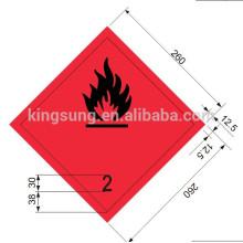 Наклейка Harzard горючий газ метку класса