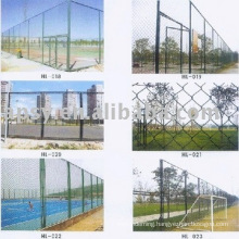 PVC coated chain link fence(manufactory)