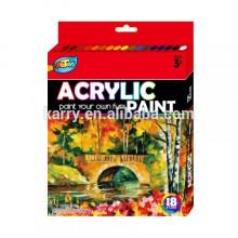 jogo acrílico da pintura da cor do acrílico 12ml-12color
