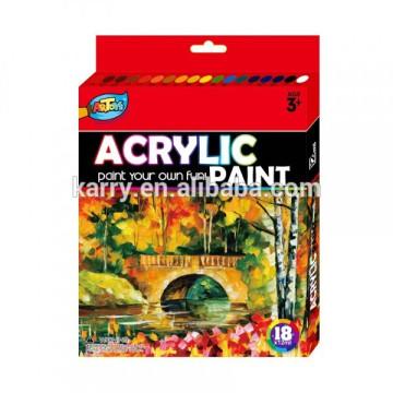 ensemble professionnel de peinture de couleur acrylique de 12ml-12color