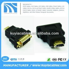 DVI F female TO HDMI M male GOLD 1080P PC MAC ADAPTER CONVERTER HD