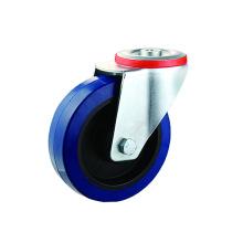 Промышленные болтовые отверстия Синие эластичные резиновые поворотные ролики