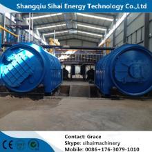 Machines de réutilisation de pneu de rebut pour faire l'huile diesel