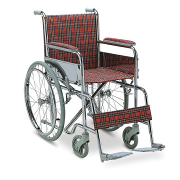 Stainless Steel Foldable Disable Manual Wheelchair