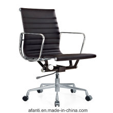 Eames Aluminium Swivel Leather Ajustável Hotel / Office Manager Chair (RFT-B02)