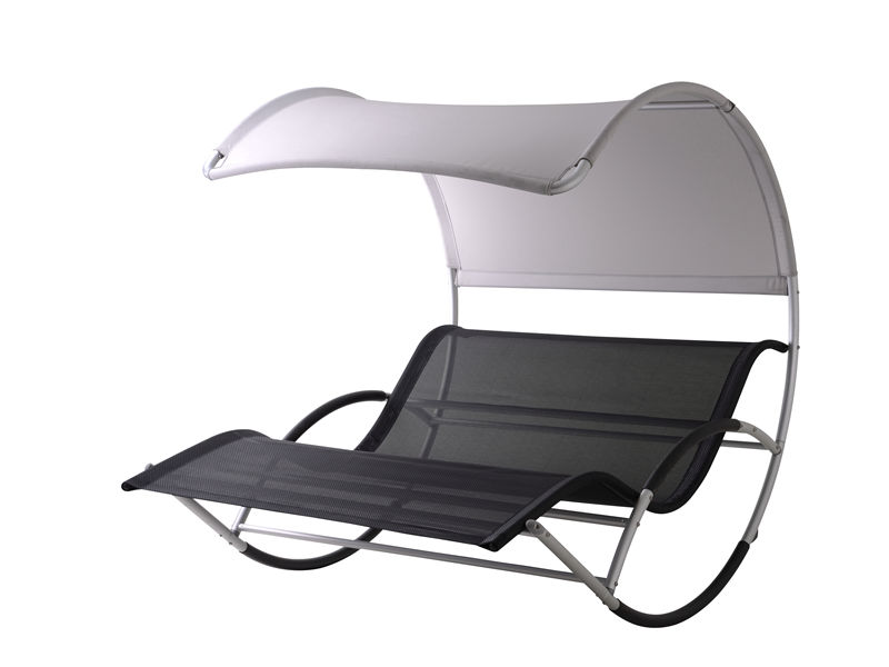 alu. double seat chaise rocker S1202