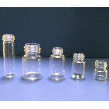 10ml frascos de vidrio transparente Mini Tubular para el embalaje cosmético