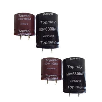 Snap en aluminium condensateur électrolytique 105c Tmce18-10