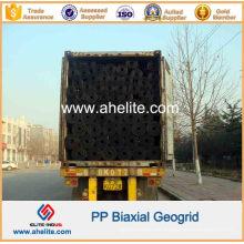 Mezcla biaxial de la geomalla de 20kn 30kn 40kn PP en envase de los 40ft