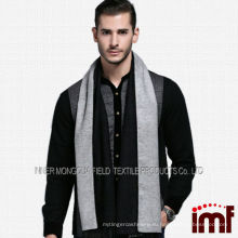 Высокое качество Очаровательные мужчины Worsted 100% шерсть корейский стиль шарф