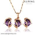 62397-Xuping Hot New Fine Jewelry Design Gold Jewelry Set