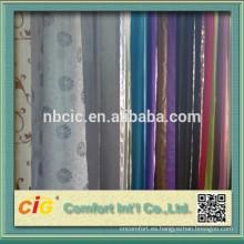 Tela de cortina de jacquard hecha de 40% poliéster 60% rayón