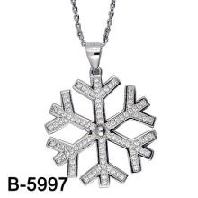 Colgante del copo de nieve de la plata esterlina de la joyería 925 de la manera
