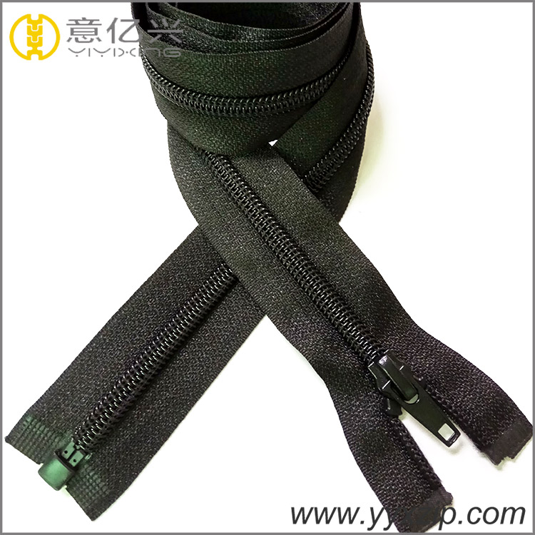Black Ordinary Nylon Zipper