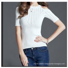 PK18CH003 Sexy women pullover tshirt cotton blend skinny short sleeve