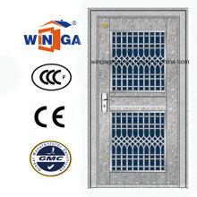 Eingang Außen 304 Edelstahl Glas Sicherheitstür (W-GH-11)