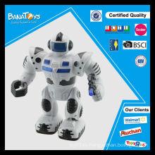 El mejor regalo divertido de la promoción juguete música ligera niños jugando robot de juguete