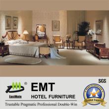 Juego de muebles de madera del dormitorio del hotel de estilo agraciado (EMT-D0651)