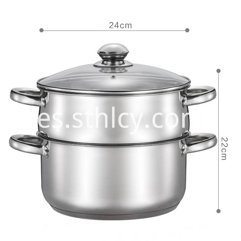 Double stainless steel steamer
