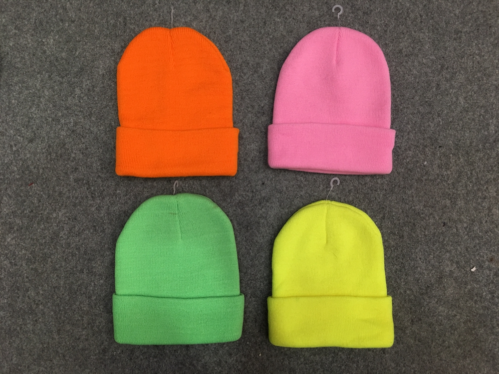 Fluorescent Knitted Winter Hat