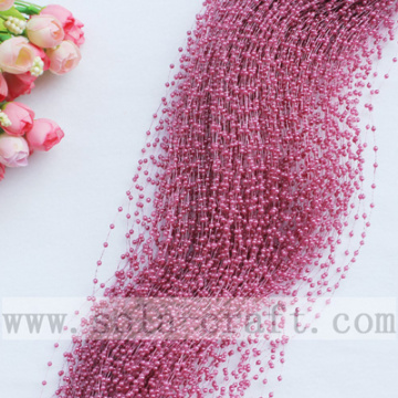 High quality Purple bean paste Acrylic Pearl Link Chains