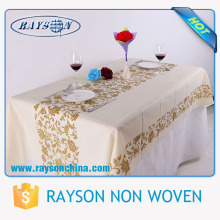 Cheap Price Custom Different Colors Square / Round Heat Resistant Nonwoven Plain Table Cover for Wedding , Home , Party