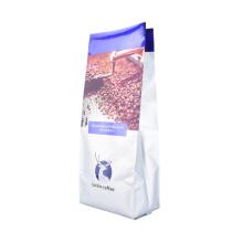 Custom Printed Plastic Beans Quad Zip Lock Bag Coffee Tea Bag Side Gusset with Valve