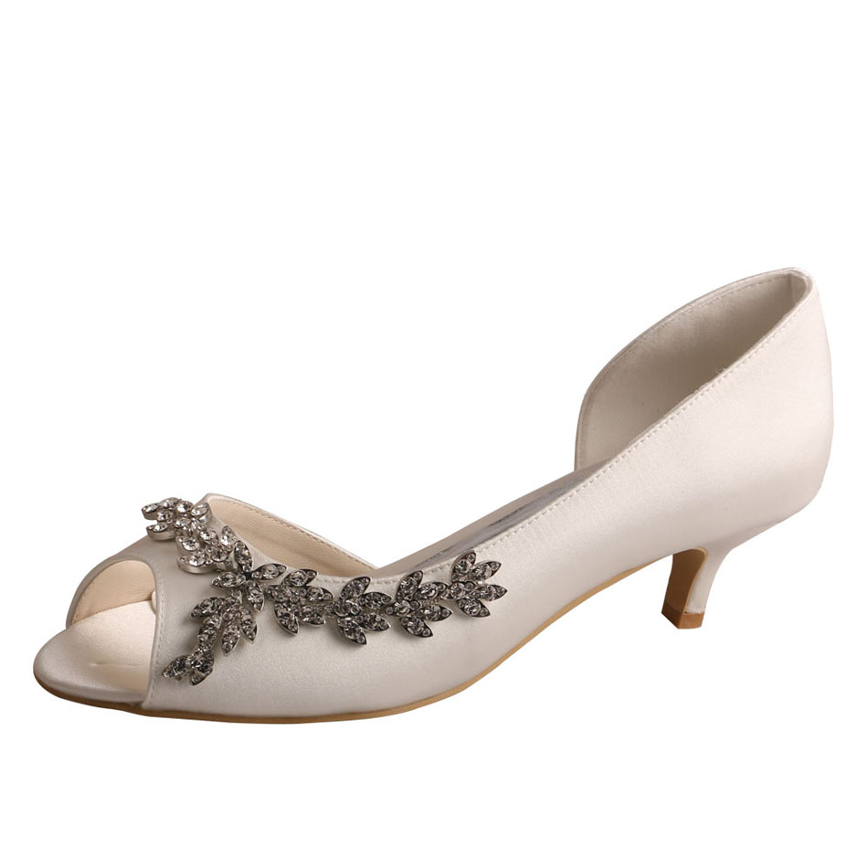 Small Heel Wedding Shoes