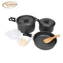 Utensilios de cocina para camping de hierro fundido de aleación ligera de aluminio
