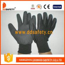 Schwarzes Nylon mit schwarzem Nitril-Handschuh-Dnn458