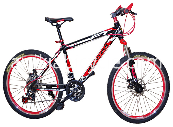 red color mountain bike