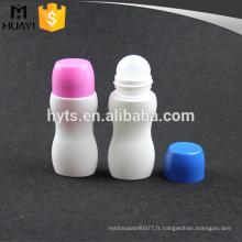 rouleau en plastique de couleur 50ml sur la bouteille vide déodorant