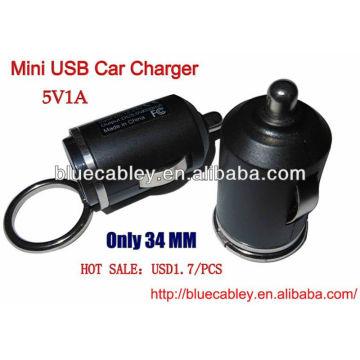 5V1A cargador del coche del usb de 34m m mini para iPhone4 / 4S / 5