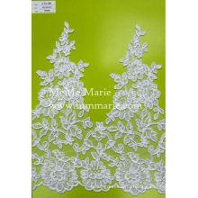 Швейцарский voile кружева ткань Белый Гипюр кружева с цветочной отделкой CTC189