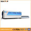 Machine de découpe au laser en tôle de 1000W, table de travail à double échange, modèle complet