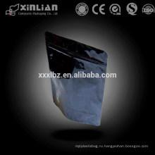 Пластмассовый мешок для упаковки в молнии с замком черного цвета