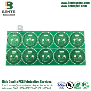 2-couches simple panneau double FR4 Tg150 BentePCB 1oz