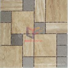 Cinderella Marble Mix Beige Travertine Mosaic Tile (CFS957)