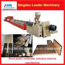 Compostos plásticos de madeira do PE PVC + Wood (WPC) dos PP que fazem a máquina
