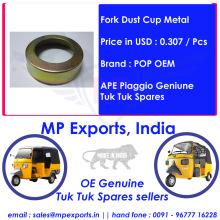 Ape Piaggio Tuk tuk Spares Fork Dust Cup Metal