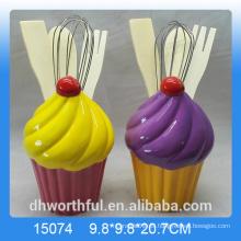 Venta al por mayor cutely titular de utensilios de cerámica en forma de helado